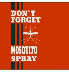 Anti-mosquito spray label vector