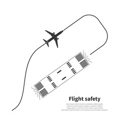 Aviation safety icon vector