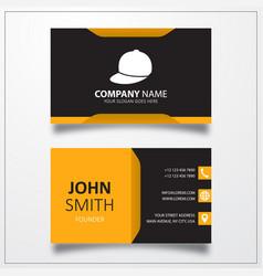 Baseball cap icon business card template vector