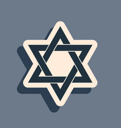 Black star david icon isolated on grey vector