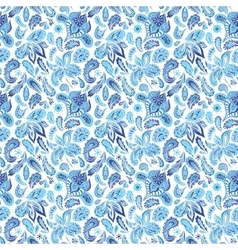 blue ethnic paisley ornament pattern vector image