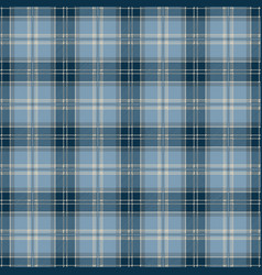 blue tablecloth tartan plaid seamless pattern vector image