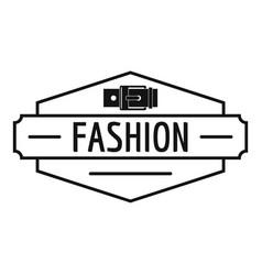 Buckle logo simple black style vector