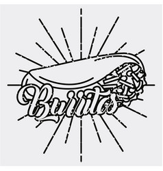 burritos mexican food traditional delicious retro vector image