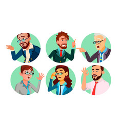 Business people in a hole society behavior vector