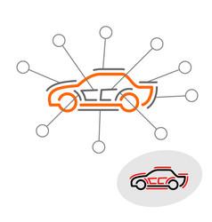 Car sound deadener noise insulation concept vector