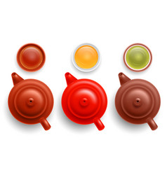 chinese tea pot and cup set vector image