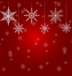 christmas with several hanging vector image