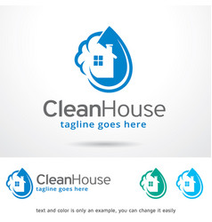 Clean house logo template vector