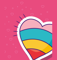 colorful heart icon vector image