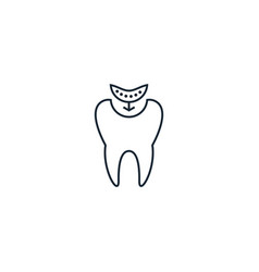 Composite fillings creative icon from dental vector