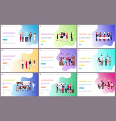 Corporate party with people having fun together vector