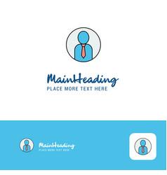creative profile logo design flat color logo vector image