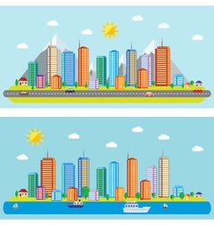 Day urban landscape vector
