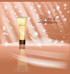 design cosmetics product advertising illus vector image