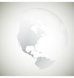 Dotted world globe light design vector image