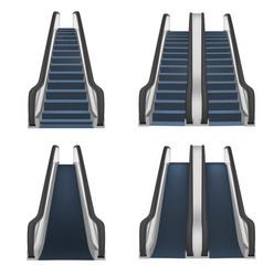 escalator elevator mockup set realistic style vector image