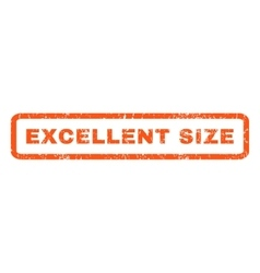 Excellent Size Rubber Stamp vector image