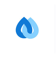 Falling drops icon clean water logo template vector