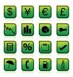 Financial signs vector