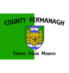 Flag county fermanagh in ulster ireland vector