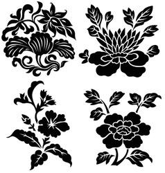 flower emblem vector image