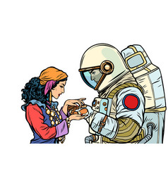 Fortune teller and an astronaut isolate vector