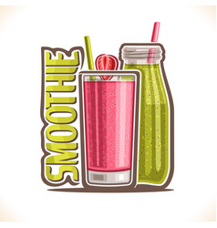 Fruit smoothie vector