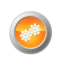 gears button vector image vector image