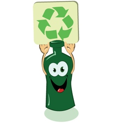 Glass bottle pro recycling vector