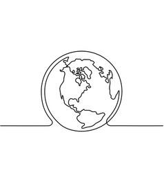Globe of the earth vector