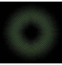 green circle of halftone vector image
