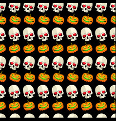 halloween seamless pattern striped design vector image