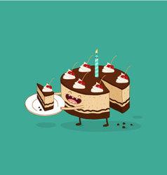 happy birthday cake chocolate vector image vector image