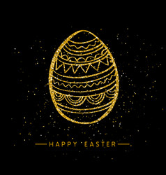Happy easter banner background template vector