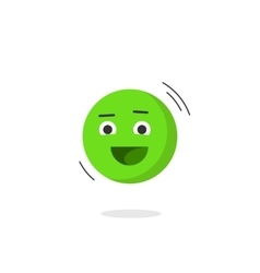 Happy smiling emotion icon isolated flat vector image