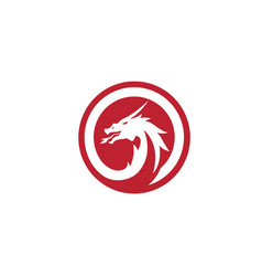head dragon logo template vector image