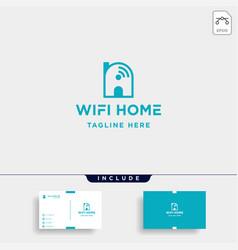 Home internet logo design wifi house icon siymbol vector