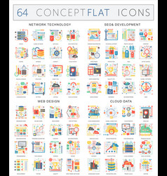 infographics concept icons of network technology vector image
