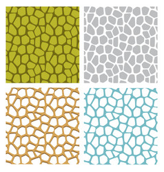 Jackfruit texture and seamless stone pattern vector