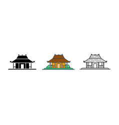 joglo indonesian traditional house vector image
