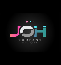 Joh j o h three letter logo icon design vector