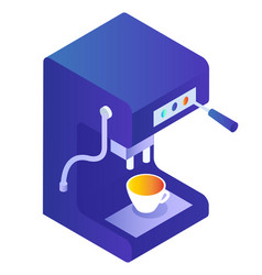 kitchen appliance coffee machine with cup vector image