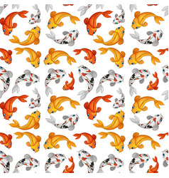 koi fish seamless card template vector image