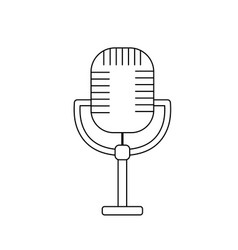 Line microphone to sing music in performance vector