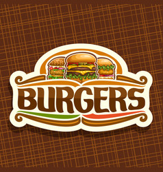 logo for burgers vector image
