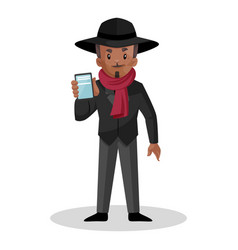 man cartoon character vector image