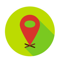 map pin circle icon vector image