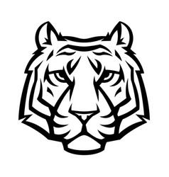 mascot stylized tiger head vector image