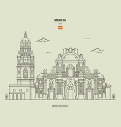 murcia cathedral spain vector image